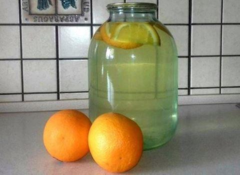 Березовий сік з апельсинами