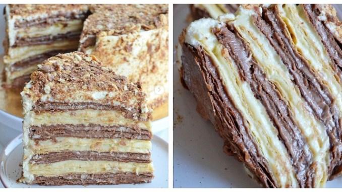 """Наполеон """"Дует"""" з двома видами заварного крему — тепер найулюбленіший торт"""