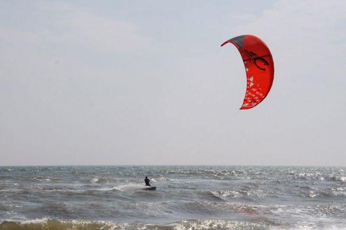 Кайтсерфінг на Азовському морі.