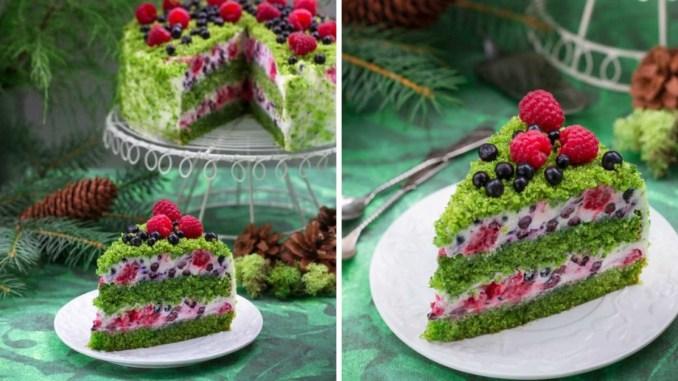 """Шпинатний торт """"Лісовий мох"""" — неймовірний і на вигляд, і на смак"""