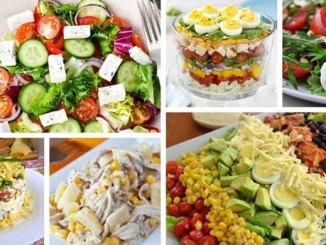 Салати з куркою (вареною, копченою і смаженою) та різними заправками. 25 найкращих рецептів