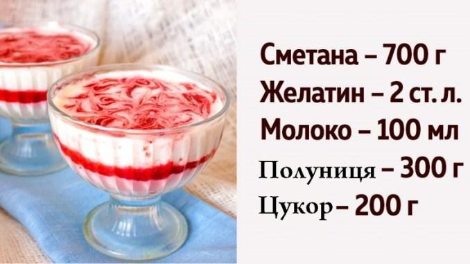 Полунично-сметанне желе: рецепт легкого десерту. Смак літа!