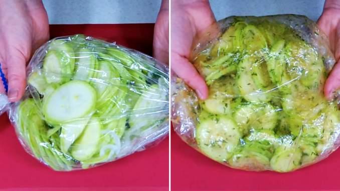 Пікантні кабачки в пакеті — всього 20 хвилин, і чудова закуска до шашлику і картоплі готова