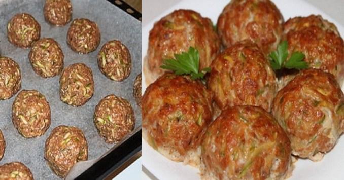300 г фаршу, 1 кабачок, 1 яйце — для смачних котлет з кабачка в духовці!