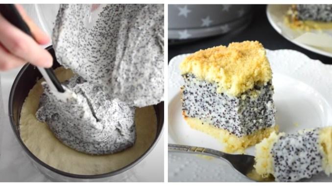 Пісочне тісто в поєднанні з сирно-маковою начинкою — дуже смачно! Німецький маковий пиріг з сиром