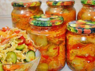 Хрусткий вітамінний салат на зиму з капусти та огірків. Обов'язково приготуйте!
