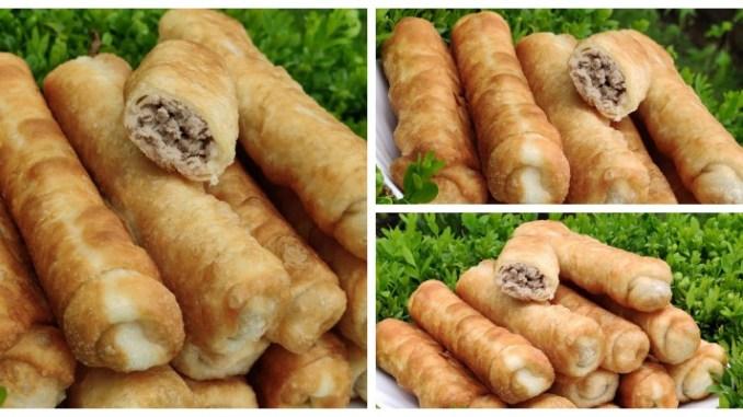 Дуже смачні пиріжки з м'ясом — тісто м'яке, ніжне і при смажені утворюються пухирці. Перевірений і улюблений рецепт!