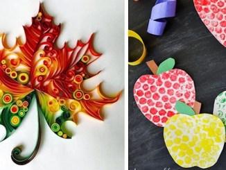 Осіння творчість із дітками: малюємо та клеїмо