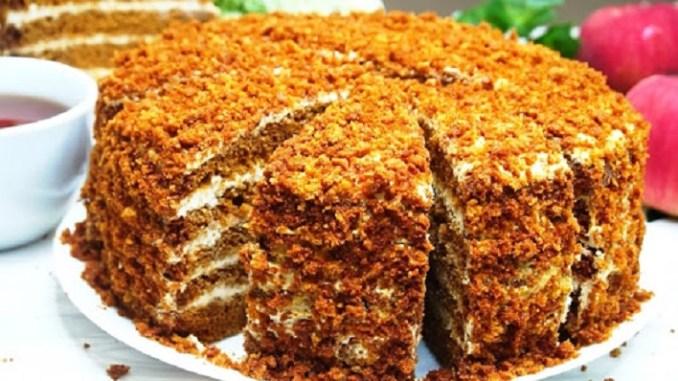 Торт за 30 хвилин! МЕДОВИЙ ПУХ або Лінивий Медовик! Без розкачування коржів. Найпростіший рецепт