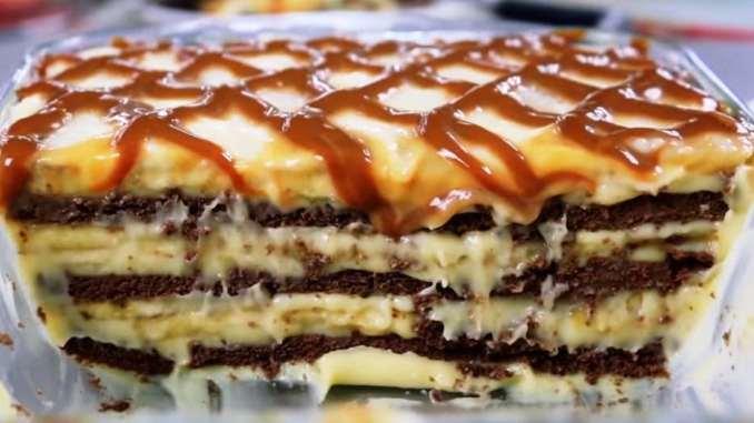 Без духовки! Дуже м'який та ніжний торт — ви приготуєте його за 10 хвилин!