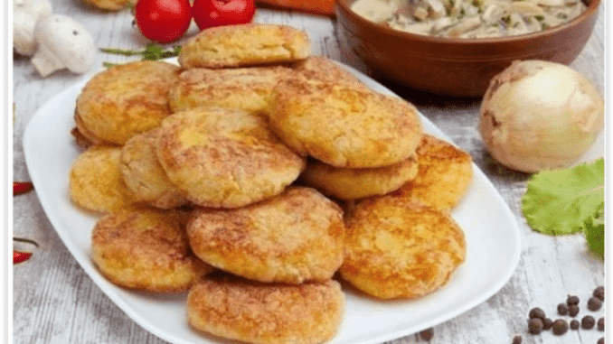 Вього 1 банка рибної консерви та 3 картоплини — і гора смачних котлет у вас на столі