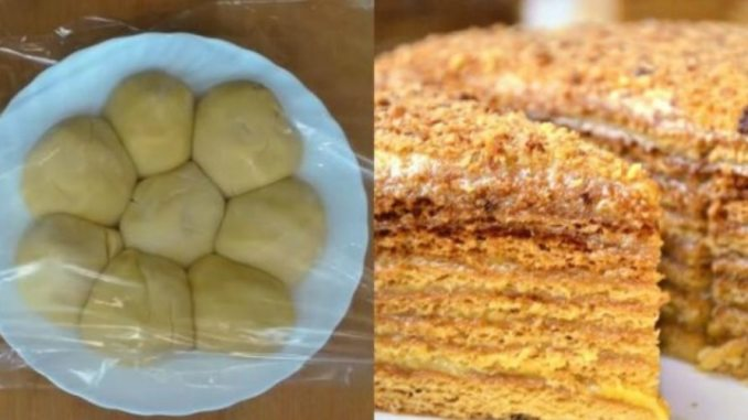 Нарізається, як масло і просто тане в роті. Всіма улюблений торт «Бджілка»