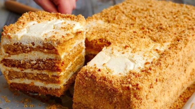 Торт «Медовик» за 30 хвилин, без зайвих проблем! Мій улюблений рецепт,