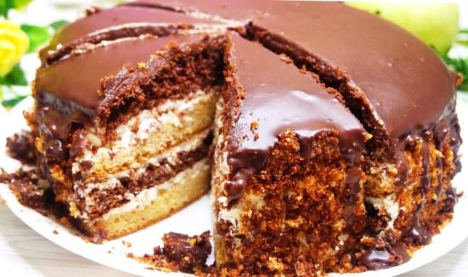 Популярний ще з дитинства! Домашній сметанний торт з незабутнім смаком