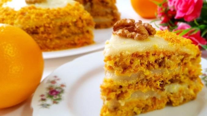 ПІСНИЙ морквяний ТОРТ з горіхами і апельсиновим кремом. Неймовірно смачний!