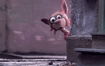 This is what an animated film set looks like away from the camera
