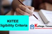 KIITEE Eligibility criteria 2017