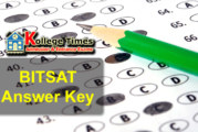 BITSAT Answer keys 2018 :- Download here