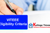 VITEEE Eligibility Criteria 2018 :- Check Here