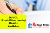 DU SOL Result 2017  for School of Open Learning Check Here