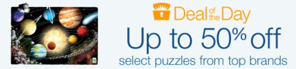 Today Only  Amazon Up To 50% Off Select Puzzles From Top