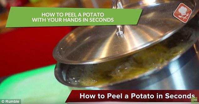 تقشير البطاطس في ثوان