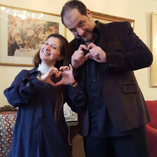 خالد الصاوي وشقيقته