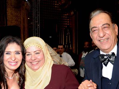 احمد راتب و زوجته