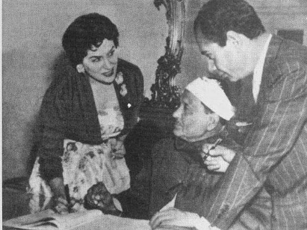 عقد قران ليلى مراد وفطين عبد الوهاب