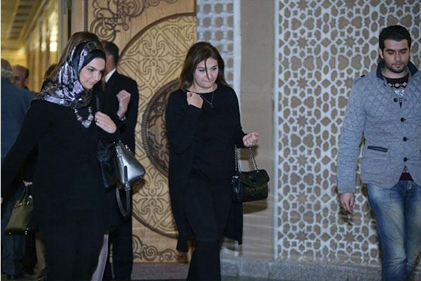 عزاء زوجة محمد صبحي