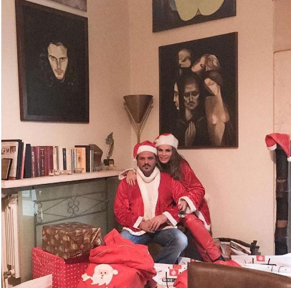 نيكول سابا وزوجها يوسف الخال