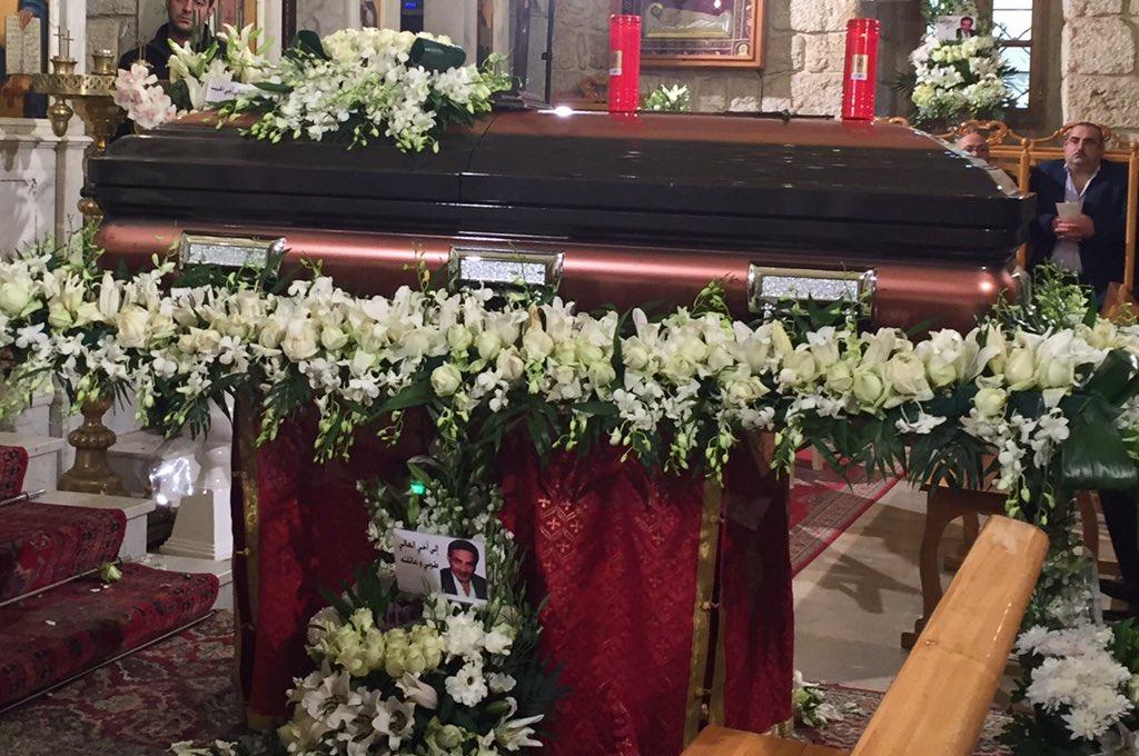 جنازة شقيق نجوى كرم