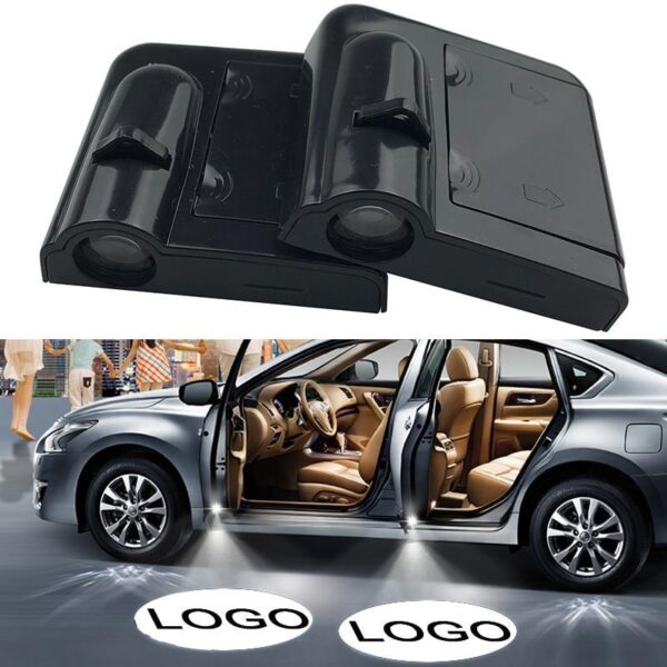 2pcs Car Door Logo & Led Light
