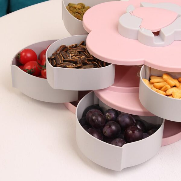 Double-Layer Rotating Fruit Dish