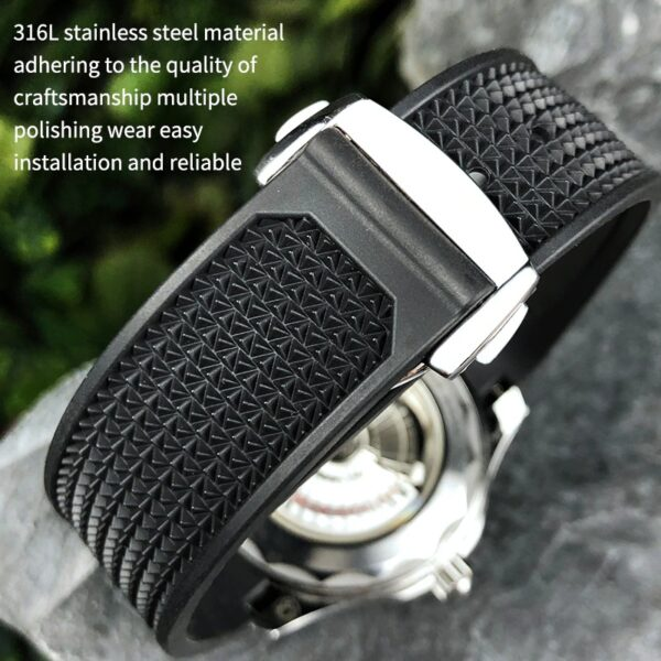Rubber Silicone Soft Watchband  Fit for Omega