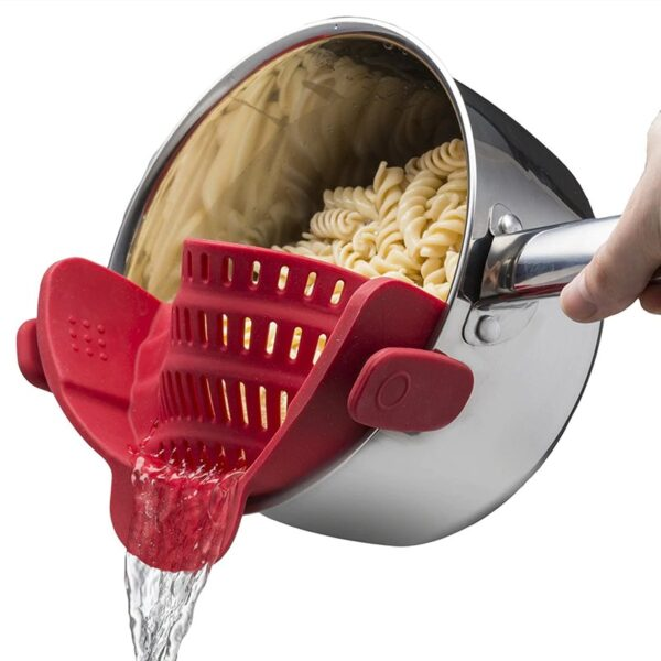 Clip On Silicone Colander Pot Strainer Kitchen Gadgets