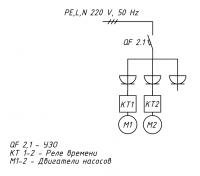 Схема подключения электроэнергии Коло Веси 40