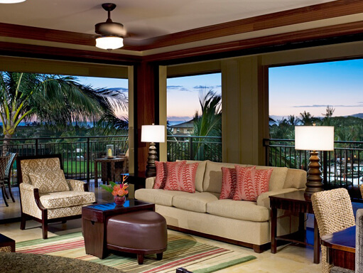 Kauai hotel image inside one of the villas