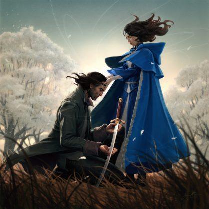 Moiraine Sedai i Lan Mandragoran Nowa Wiosna ebook Art: Jason Chan
