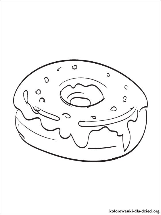 Doughnut Coloring Page Otvod