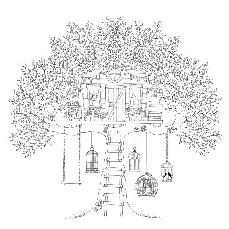 Kolorowanki dla dorosłych: Tajemniczy ogród do wydruku