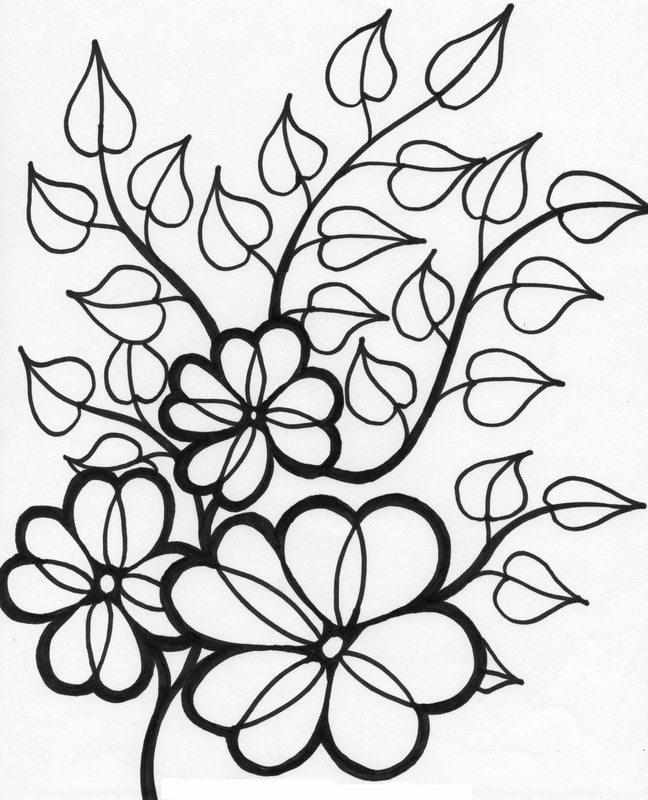 Kolorowanki dla dorosłych: Kwiaty do wydruku, część 1