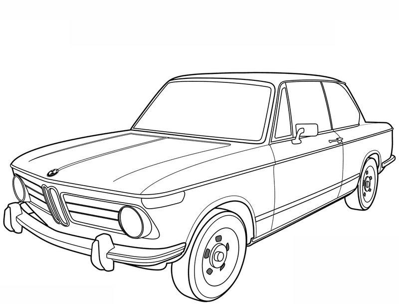 Kolorowanki dla dorosłych: Samochody do wydruku, część 2