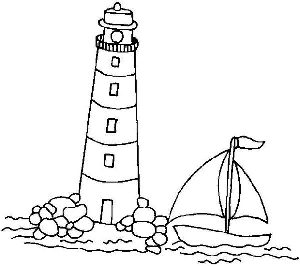 Latarnia morska nad morzem