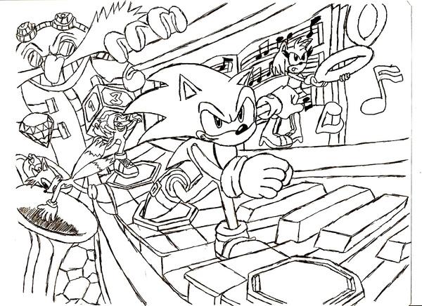 Postacie Sonic X do druku