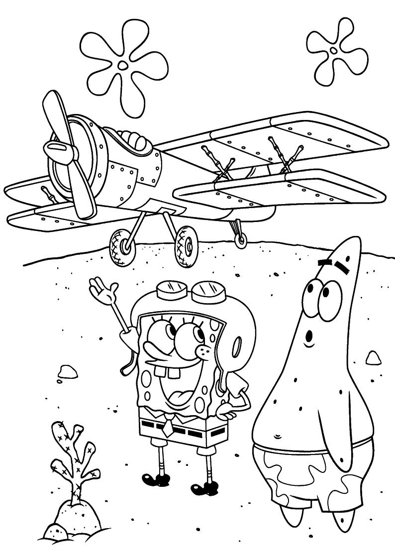Kolorowanka Spongebob I Patryk Rozgwiazda Malowanka Do