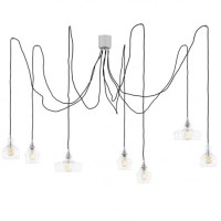 Longis spider 7 Pendant Lamp Chrome