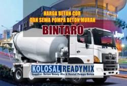 Harga Beton Cor Bintaro Per M3 Terbaru 2020