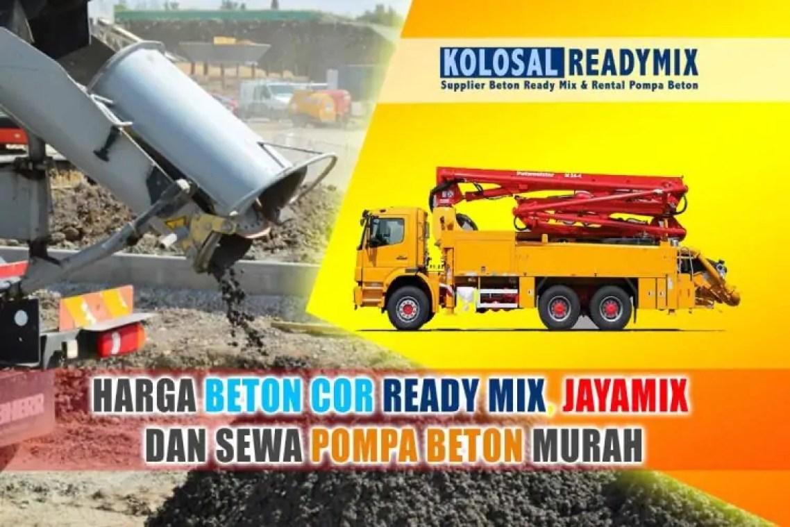 harga beton cor ready mix jayamix