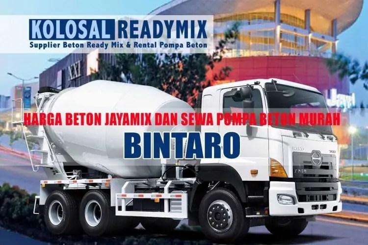 harga beton jayamix bintaro
